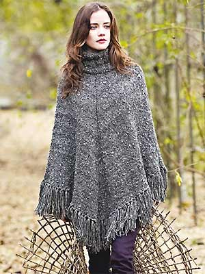 Knit A Poloneck Poncho Free Knitting Pattern Craft Ideas Uk