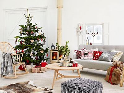 Christmas Tree, Scandi Style Christmas Decorations U0026 Accessories   Living  Room Ideas   Homes