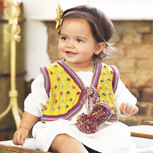 baby waistcoat to knit - Free knitting patterns for babies - Craft - allaboutyou.com