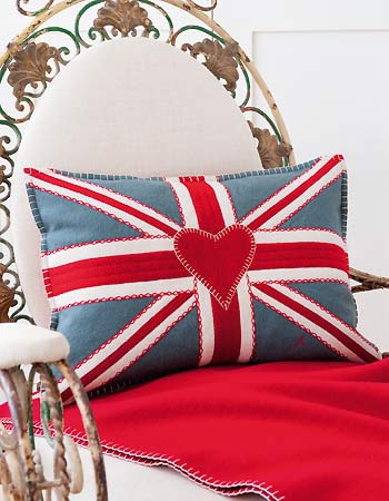 Stitch a Union Jack cushion by Jan Constantine with embroidery and ...