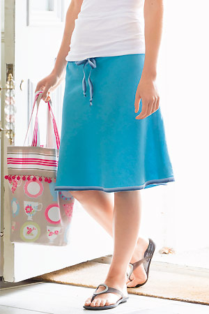 sew drawstring skirt, from Sewing Made Simple book