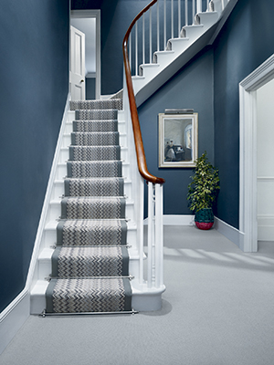 Geometric Pattern Stair Carpet, Crucial Trading   Hallway Ideas   Homes And  UK Decor