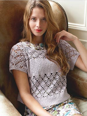 Crochet A Lacy Short Sleeved Top Free Crochet Patterns