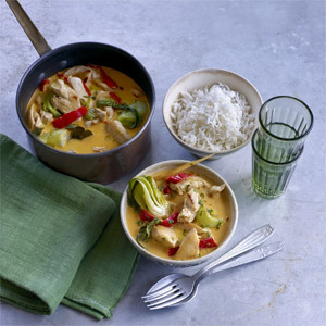 Thai red chicken curry with rice recipe - chicken breast recipes and curry recipes - food and UK recipes - allaboutyou.com