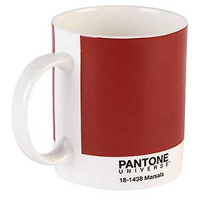 Warm up your room decor with Pantone's colour of 2015 - and buy the mug! Find more unusual Christmas tree decorations and home decor ideas at allaboutyou.com: homes and UK decor, fashion, beauty, food and UK recipes, travel, health and more.