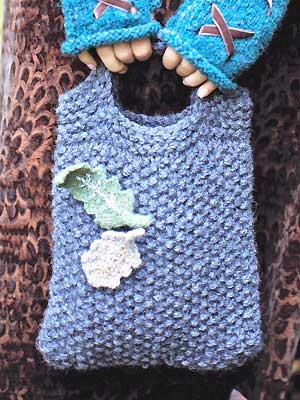 Knit A Moss Stitch Tote Bag Free Knitting Patterns Allaboutyou