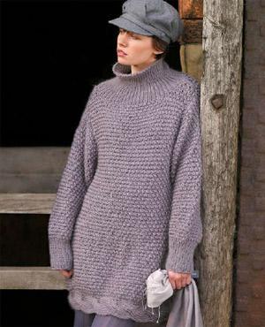 Free Knitting Patterns For Adults Sweaters : Knit a high-neck sweater :: free knitting pattern :: sweater patterns knittin...