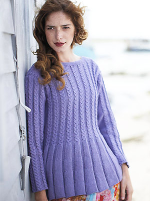 PP knit cable and rib tunic jumper