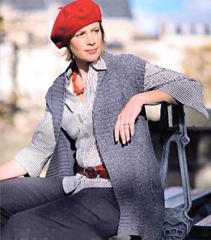 Knit a plus-size waistcoat    free knitting patterns    UK knitting ... 439dab2db51